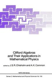Cover of: Clifford algebras and their applications in mathematical physics