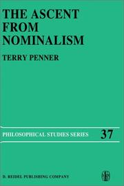 Cover of: The ascent from nominalism