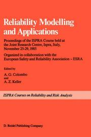 Cover of: Reliability modelling and applications |