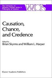Cover of: Causation, chance, and credence