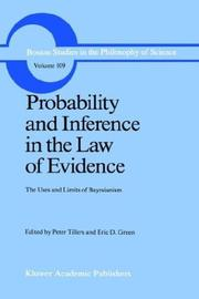 Cover of: Probability and Inference in the Law of Evidence |