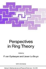 Cover of: Perspectives in ring theory