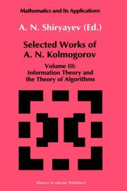 Cover of: Information theory and the theory of algorithms