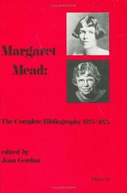 Cover of: Margaret Mead