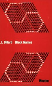 Cover of: Black names | Dillard, J. L.