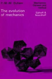 Cover of: The evolution of mechanics