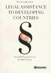 Cover of: Legal Assistance to Developing Countries:Swedish Perspectives on the Rule of Law | Per Sevastik