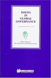 Cover of: Issues in Global Governance:Papers Written for the Commission on Global Governance | Commission On Global Governance
