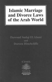 Cover of: Islamic marriage and divorce laws of the Arab world