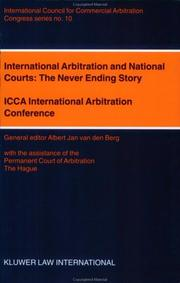 Cover of: International arbitration and national courts |