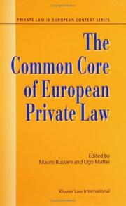 Cover of: The making of European law |