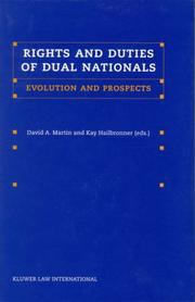 Cover of: Rights and Duties of Dual Nationals:Evolution and Prospects | David Martin (undifferentiated)