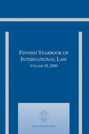 Cover of: Finnish Yearbook of International Law | Martti Koskenniemi