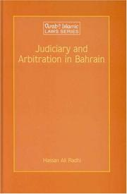 Cover of: Judiciary and arbitration in Bahrain |