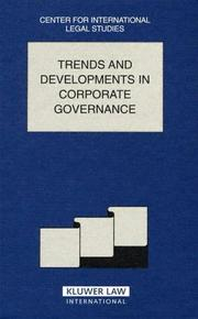 Cover of: Trends and Developments in Corporate Governance |