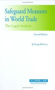 Cover of: Safeguard Measures in World Trade | Yong-Shik Lee