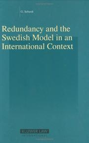 Cover of: Redundancy and the Swedish Model in an International Context (Studies in Employment and Social Policy) (Studies in Employment and Social Policy) | Gabriella Sebardt