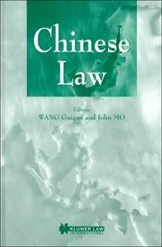 Cover of: Chinese Law | Kuei-kuo Wang
