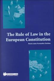 Cover of: The rule of law in the European Constitution