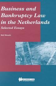 Cover of: Business and bankruptcy law in the Netherlands