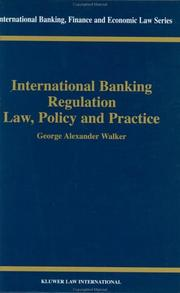Cover of: International banking regulation