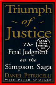 Cover of: Triumph of justice