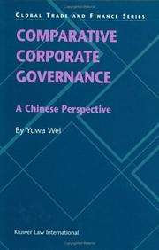 Cover of: Comparative Corporate Governance