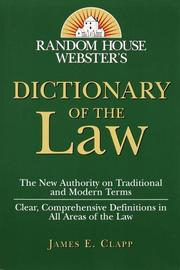 Cover of: Random House Webster's Dictionary of the Law