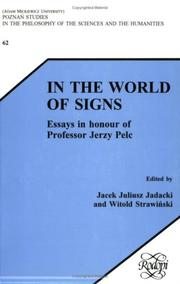 Cover of: In the World of Signs | Jacek Juliusz Jadacki, Witold Strawinsky