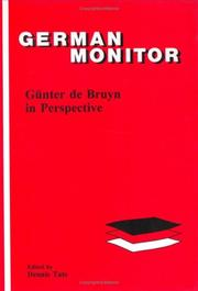 Cover of: Günter de Bruyn in perspective |