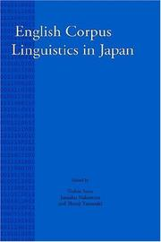 Cover of: English Corpus Linguistics in Japan (Language and Computers 38) (Language & Computers) |