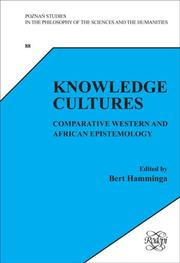 Cover of: Knowledge Cultures