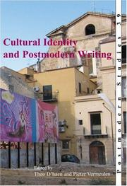 Cover of: Cultural Identity and Postmodern Writing (Postmodern Studies 39) (Postmodern Studies)