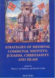 Cover of: Strategies Of Medieval Communal Identity | Wout J. van Bekkum