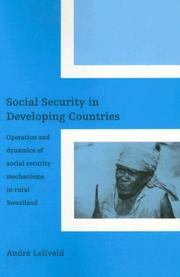 Cover of: Social Security in Developing Countries | Andre