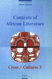 Cover of: Contexts of African literature