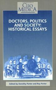 Cover of: Doctors, Politics And Society