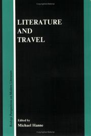 Cover of: Literature and travel |