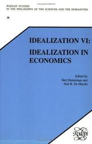 Cover of: Idealization Vi