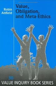 Cover of: Value, Obligation, And Meta-ethics.