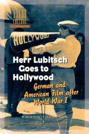 Cover of: Herr Lubitsch Goes to Hollywood