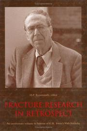 Cover of: Fracture research in retrospect |
