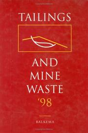 Cover of: TAILINGS & MINE WASTE 98