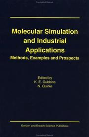 Cover of: Molecular simulation and industrial applications |