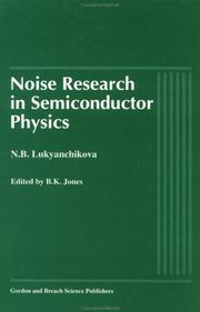 Cover of: Noise research in semiconductor physics
