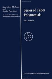 Cover of: Series of Faber polynomials