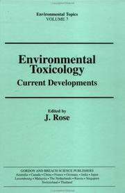 Cover of: Environmental toxicology |