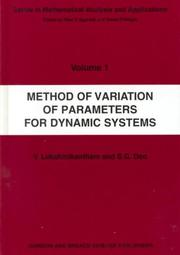Cover of: Method of variation of parameters for dynamic systems