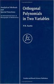 Cover of: Orthogonal polynomials in two variables