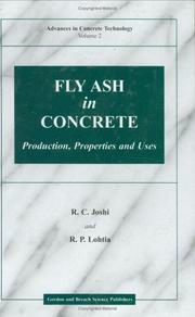 Cover of: Fly Ash in Concrete | R. C. Joshi